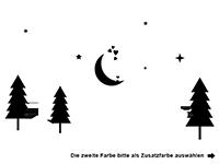 Wandtattoo Wald mit Sternen und Eule Motivansicht