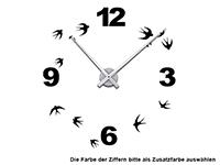 Wandtattoo Schwalben Uhr Motivansicht
