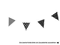Wandtattoo Wimpel Design Motivansicht
