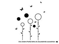 Wandtattoo Verspielte Blumenwiese Motivansicht