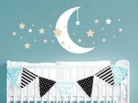Wandtattoo Sternenhimmel mit Mond | Bild 2