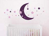 Wandtattoo Sternenhimmel mit Mond | Bild 4