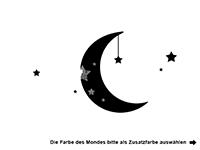 Wandtattoo Mond mit Sternen Motivansicht