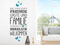 Wandtattoo Freunde Gäste und Familie | Bild 2