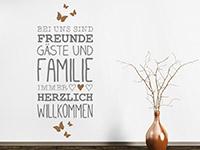 Wandtattoo Freunde Gäste und Familie | Bild 3