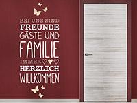 Wandtattoo Freunde Gäste und Familie | Bild 4