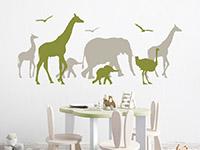 Wandtattoo Tiersafari | Bild 2