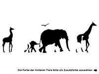 Wandtattoo Safari Motivansicht