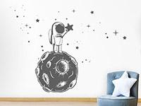 Wandtattoo Kleiner Astronaut mit Sternen | Bild 2