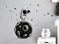 Wandtattoo Kleiner Astronaut mit Sternen | Bild 4