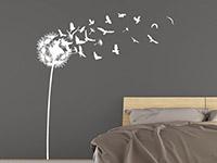 Wandtattoo Pusteblume mit davonfliegenden Vögeln | Bild 2