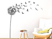 Wandtattoo Pusteblume mit davonfliegenden Vögeln | Bild 4