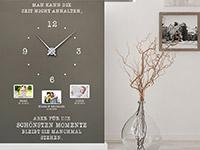 Fotorahmen Wandtattoo Uhr Für die schönsten Momente in weiß