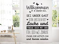 Wandtattoo Willkommen sei unser Gast | Bild 2