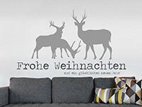 Wandtattoo Frohe Weihnachten mit Hirschen | Bild 4