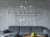 wandtattoo frohe weihnachten ein gutes neues jahr. Black Bedroom Furniture Sets. Home Design Ideas
