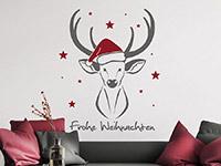 Wandtattoo Weihnachtshirsch mit Sternen | Bild 2