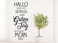 Wandtattoo Willkommen Worte | Bild 2