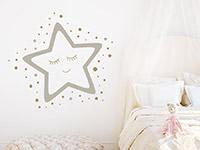 Wandtattoo Gute Nacht Stern im Kinderzimmer