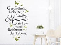 Wandtattoo Gesundheit Liebe und schöne Momente | Bild 2
