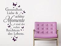Wandtattoo Gesundheit Liebe und schöne Momente | Bild 3