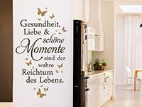 Wandtattoo Gesundheit Liebe und schöne Momente | Bild 4