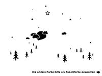 Wandtattoo Berglandschaft mit Sternen Motivansicht