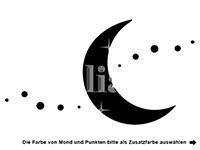Wandtattoo Mond mit Wunschname Motivansicht