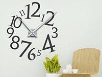 Wandtattoo Uhr Modern im Flur