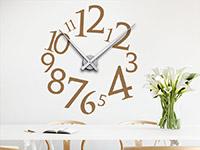 Wanduhren Wandtattoo Uhr Modern auf heller Wandfläche