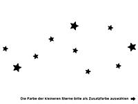 Wandtattoo Lachende Sterne Motivansicht