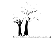 Wandtattoo Vintage Bäume Motivansicht