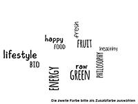 Wandtattoo Wortwolke Vegan Motivansicht