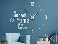Wandtattoo Uhr All you need is time in weiß