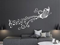 Wandtattoo Notenornament mit Schmetterling   Bild 2