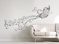 Wandtattoo Notenornament mit Schmetterling   Bild 4