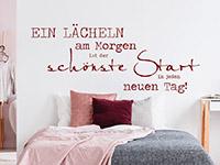 Wandtattoo Ein Lächeln am Morgen | Bild 3