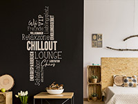Wandtattoo Wortwolke Chillout Lounge | Bild 2