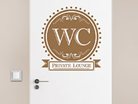 Tür Wandtattoo WC Ornament als Toiletten Design