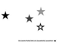 Wandtattoo Große Sterne Motivansicht