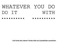 Wandtattoo Do it with love Motivansicht