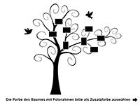 Wandtattoo Verspielter Baum mit Fotorahmen Motivansicht