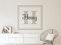 Wandtattoo Name Monogramm eckig | Bild 2