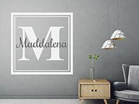Wandtattoo Name Monogramm eckig | Bild 3