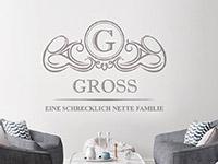 Wandtattoo Wappen Eine schrecklich nette Familie | Bild 3