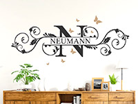 Wandtattoo Name als Ornament | Bild 4