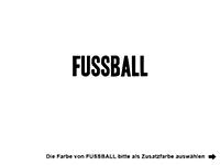 Wandtattoo Fußballherz Motivansicht