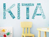 Wandtattoo Kita Kindergarten Begriffe | Bild 3