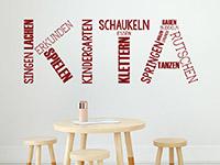 Wandtattoo Kita Kindergarten Begriffe | Bild 4