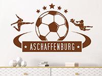 Wandtattoo Fußball mit Ortsname | Bild 4